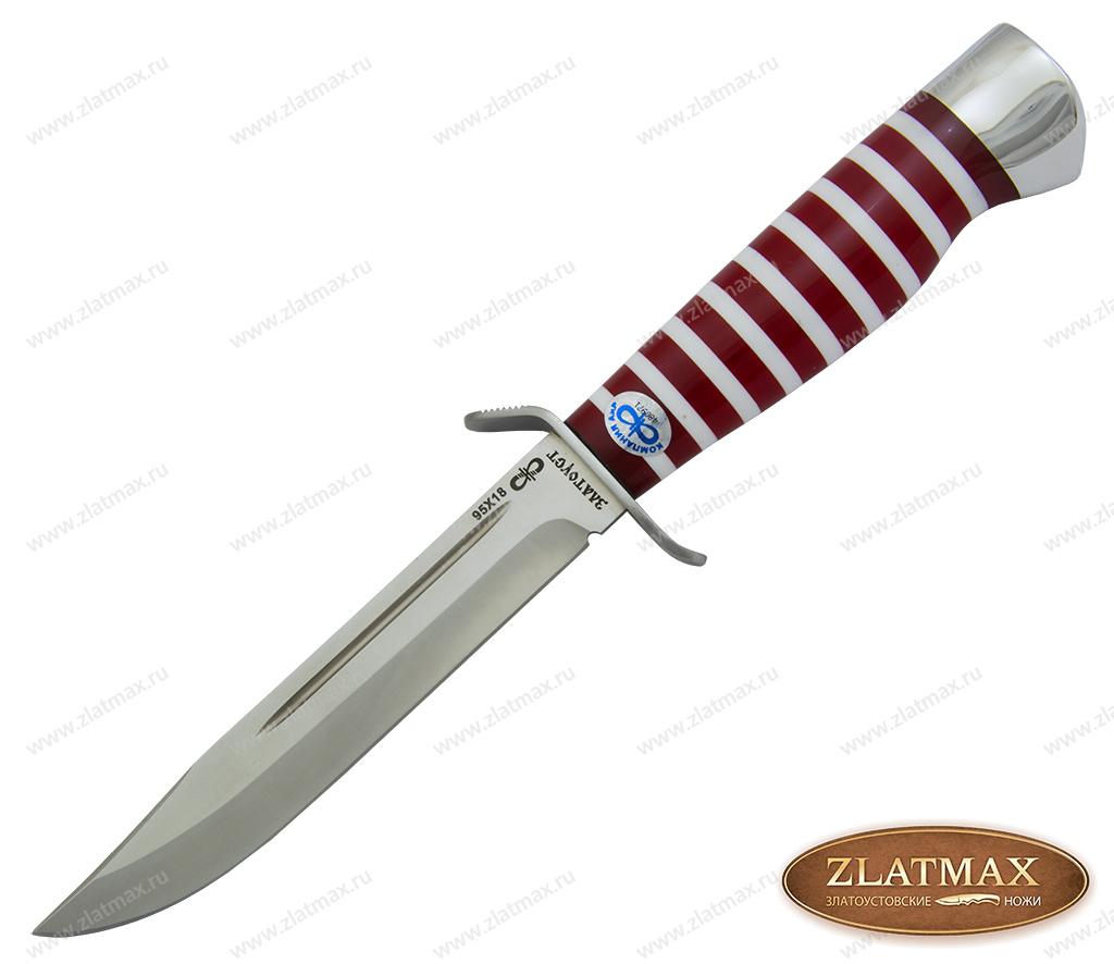 Нож Штрафбат-Спецназ (95Х18, Оргстекло, Нержавеющая сталь, Алюминий) фото-01
