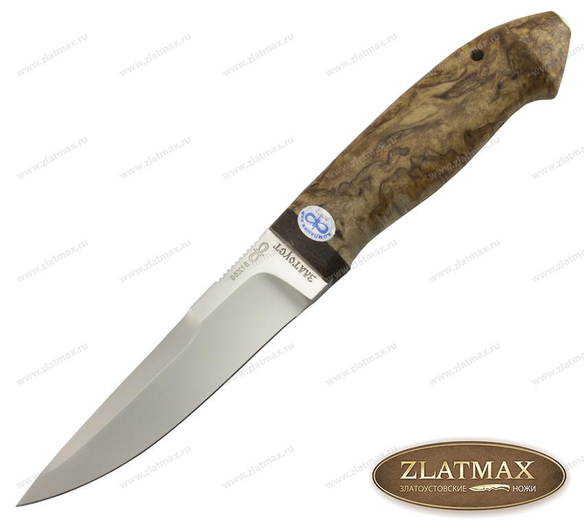 Нож Хаски (95Х18, Карельская берёза, Текстолит) фото 01