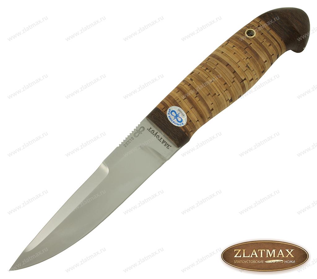 Нож Хаски (95Х18, Наборная береста, Текстолит) фото-01