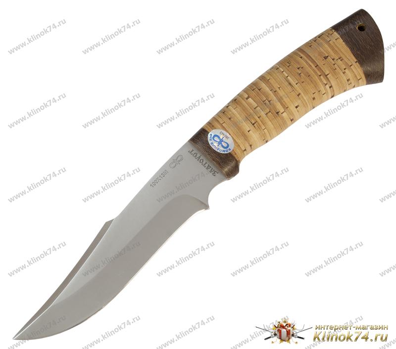 Нож Хазар (100Х13М, Наборная береста, Текстолит) фото 01