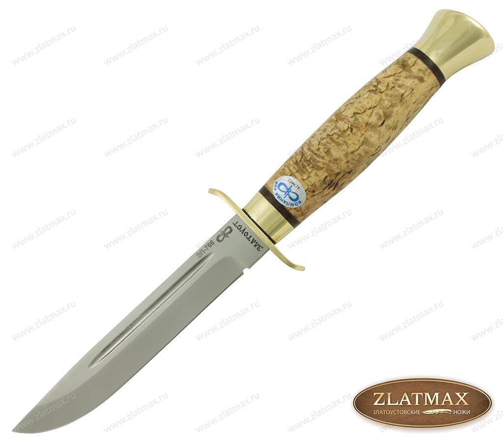 Нож Финка-2 (ЭП-766, Карельская берёза, Латунь) фото-01