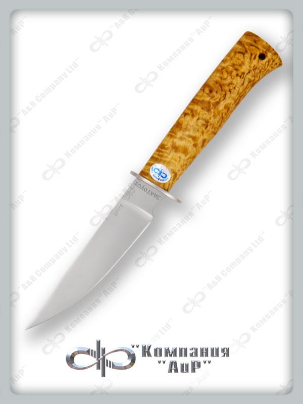 Нож Тетерев (95Х18, Карельская берёза, Нержавеющая сталь) фото 01