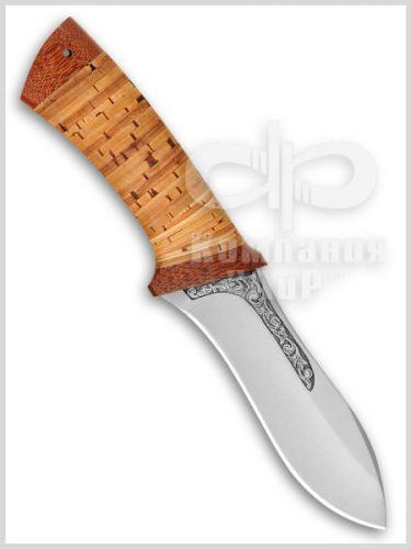 Нож Скинер (95Х18, Наборная береста, Текстолит) фото 01