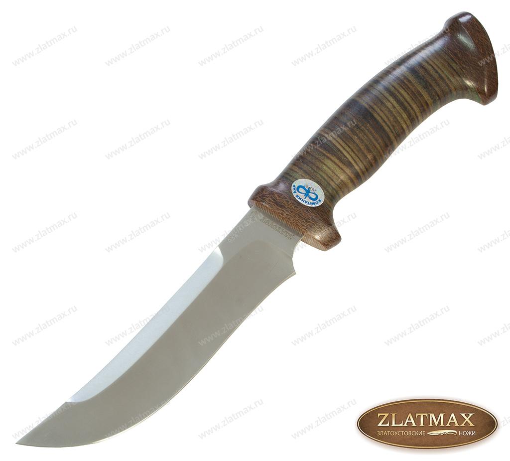 Нож Росомаха (95Х18, Наборная кожа, Текстолит) фото 01