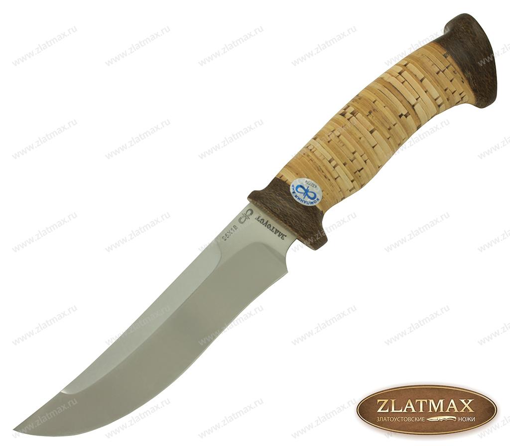 Нож Росомаха (95Х18, Наборная береста, Текстолит) фото 01