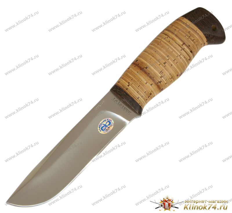 Нож Полярный-2 (100Х13М, Наборная береста, Текстолит) фото 01