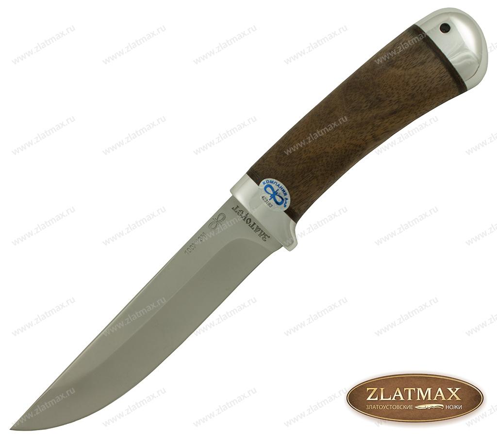 Нож Лиса (100Х13М, Орех, Алюминий) фото-01