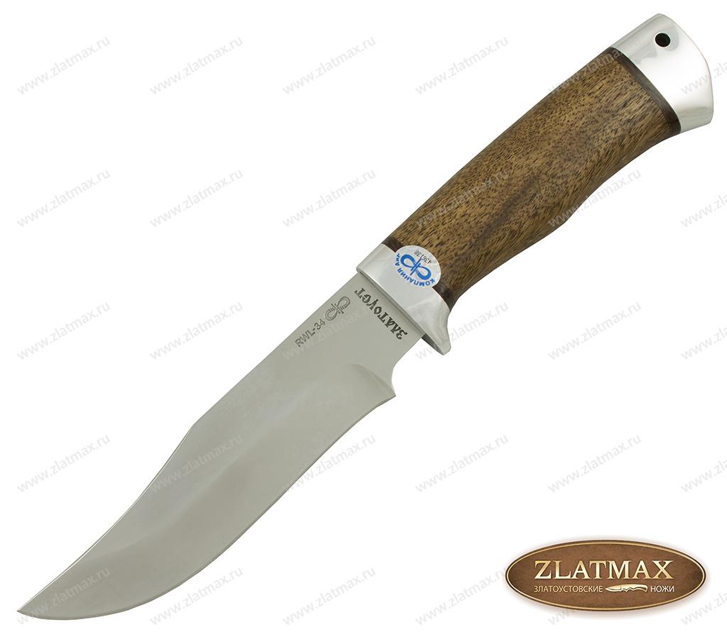 Нож Клычок-1 (RWL-34, Орех, Алюминий) фото 01