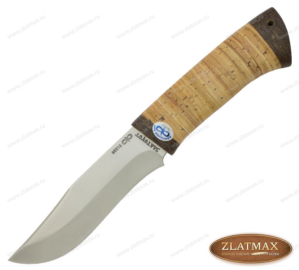 Нож Клычок-3 (95Х18, Наборная береста, Текстолит) фото 01