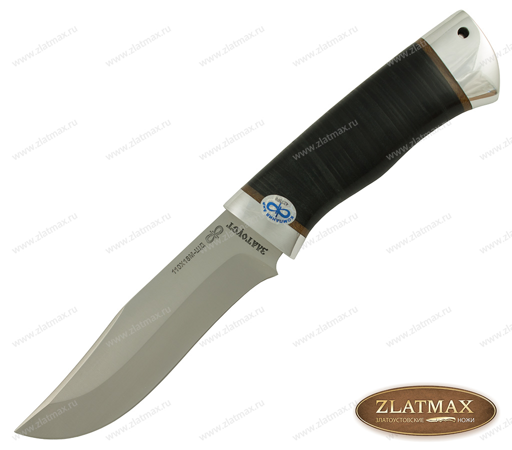 Нож Клычок-3 (110Х18М-ШД, Наборная кожа, Алюминий) фото 01
