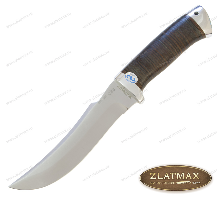 Нож Клык (100Х13М, Наборная кожа, Алюминий) фото 01