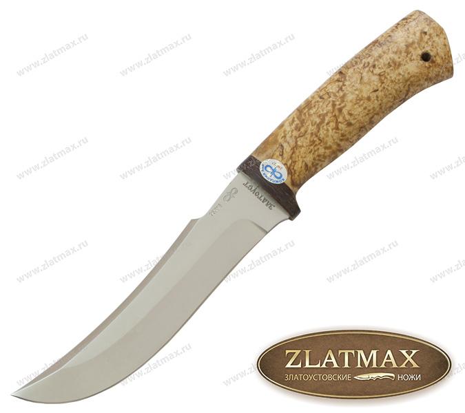 Нож Клык (95Х18, Карельская берёза, Текстолит) фото 01