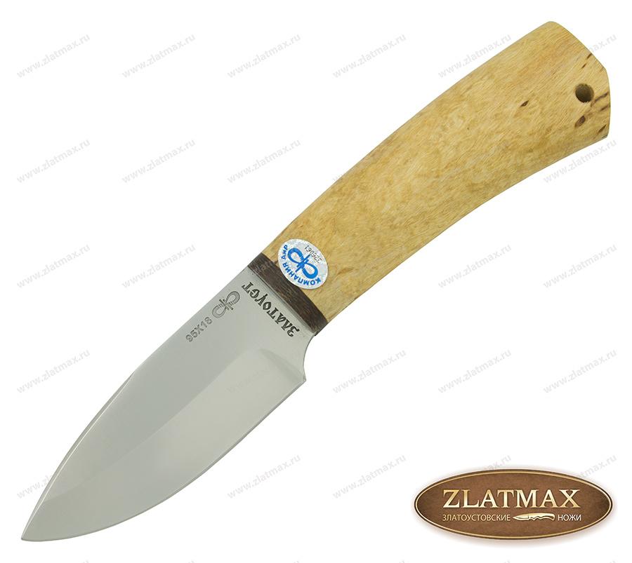 Нож Добрый (95Х18, Карельская берёза, Текстолит) фото-01