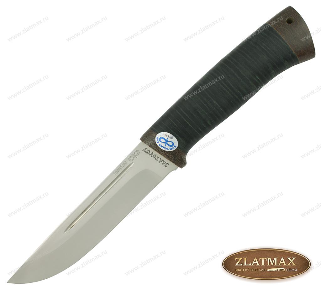 Нож Бекас (100Х13М, Наборная кожа, Текстолит) фото 01