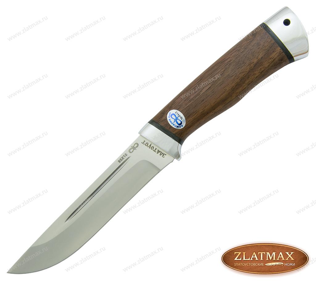 Нож Бекас (95Х18, Орех, Алюминий) фото-01