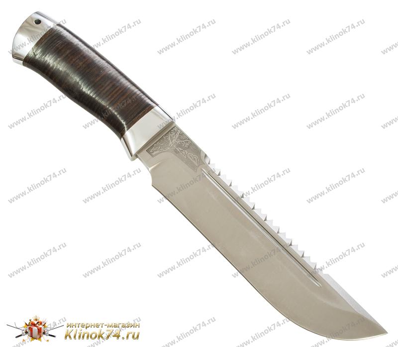 Нож Робинзон-1 (95Х18, Наборная кожа, Алюминий) фото 01