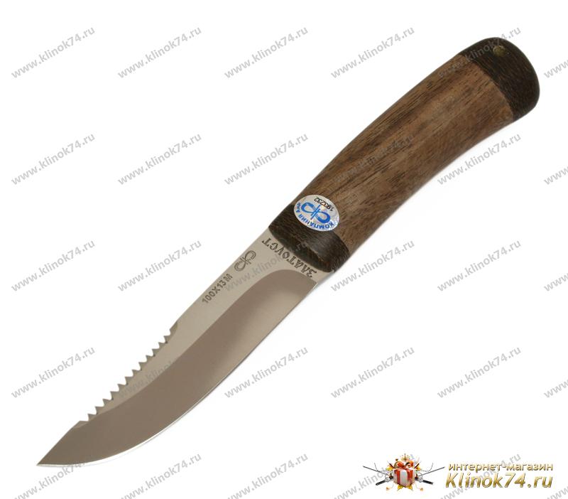 Нож Робинзон-2 (100Х13М, Орех, Текстолит) фото 01