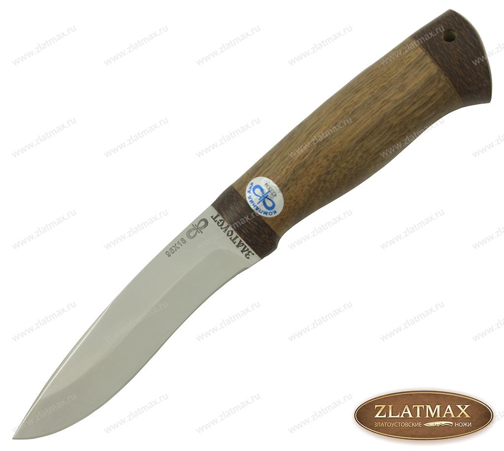 Нож Шаман-2 (95Х18, Орех, Текстолит) фото-01