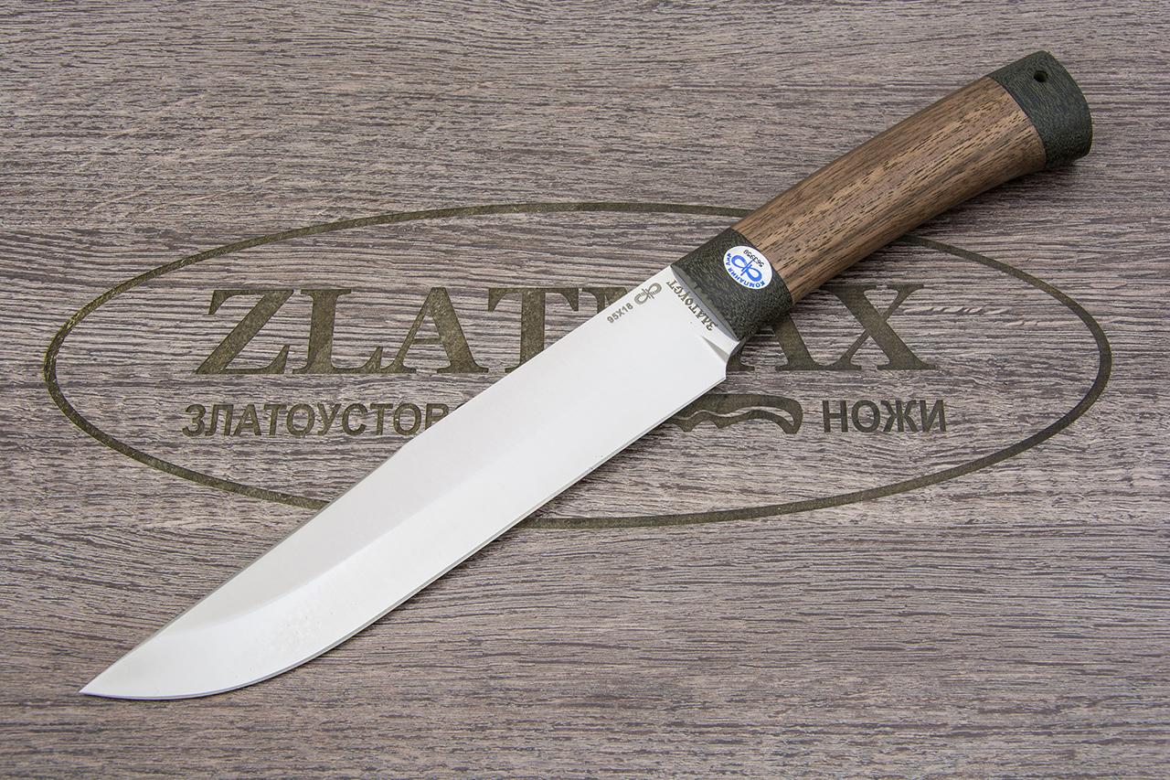Нож Шашлычный-большой (95Х18, Орех, Текстолит) фото 01