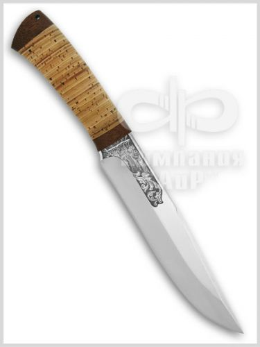 Нож Шашлычный-большой (95Х18, Наборная береста, Текстолит) фото 01