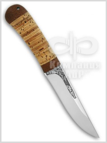Нож Шашлычный-малый (95Х18, Наборная береста, Текстолит) фото-01