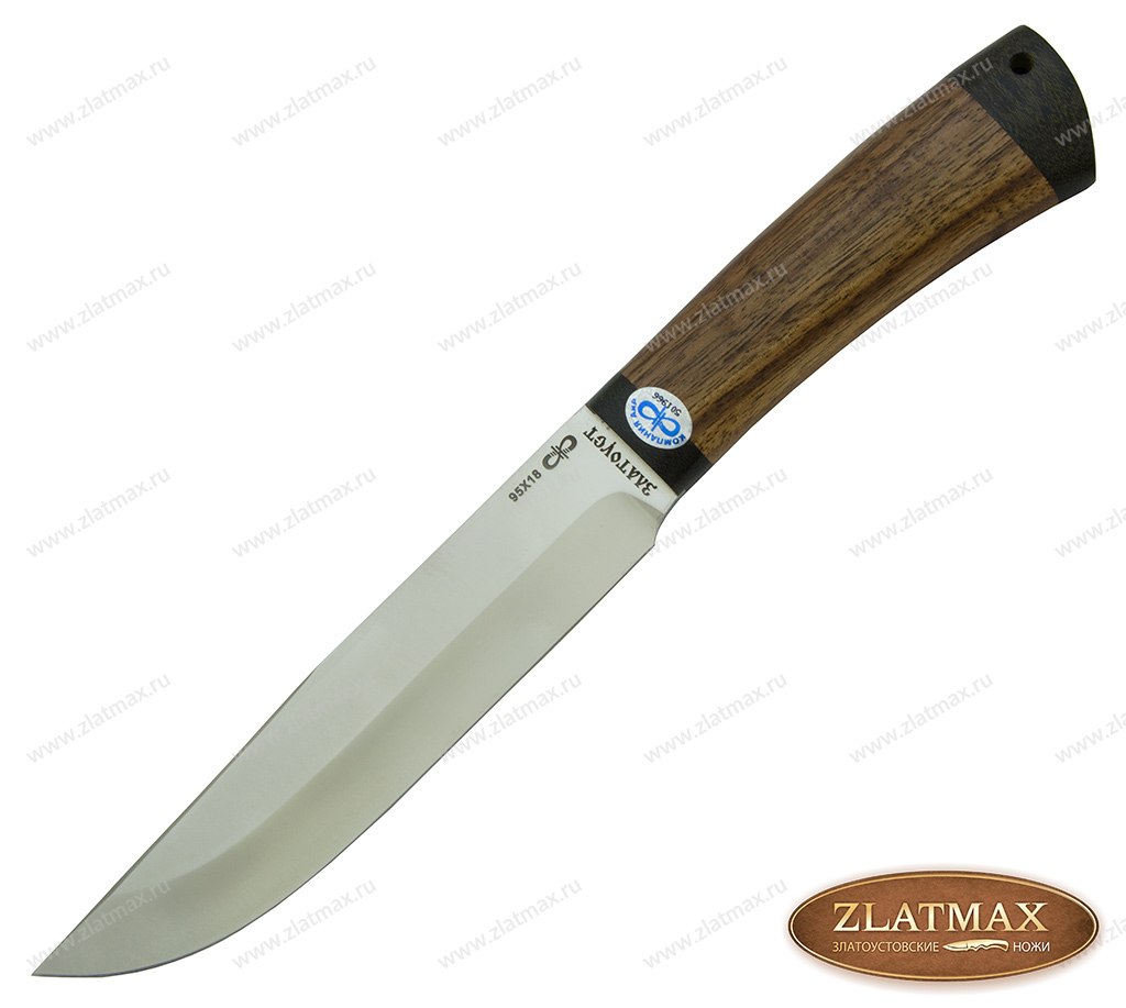 Нож Шашлычный-средний (95Х18, Орех, Текстолит) фото 01