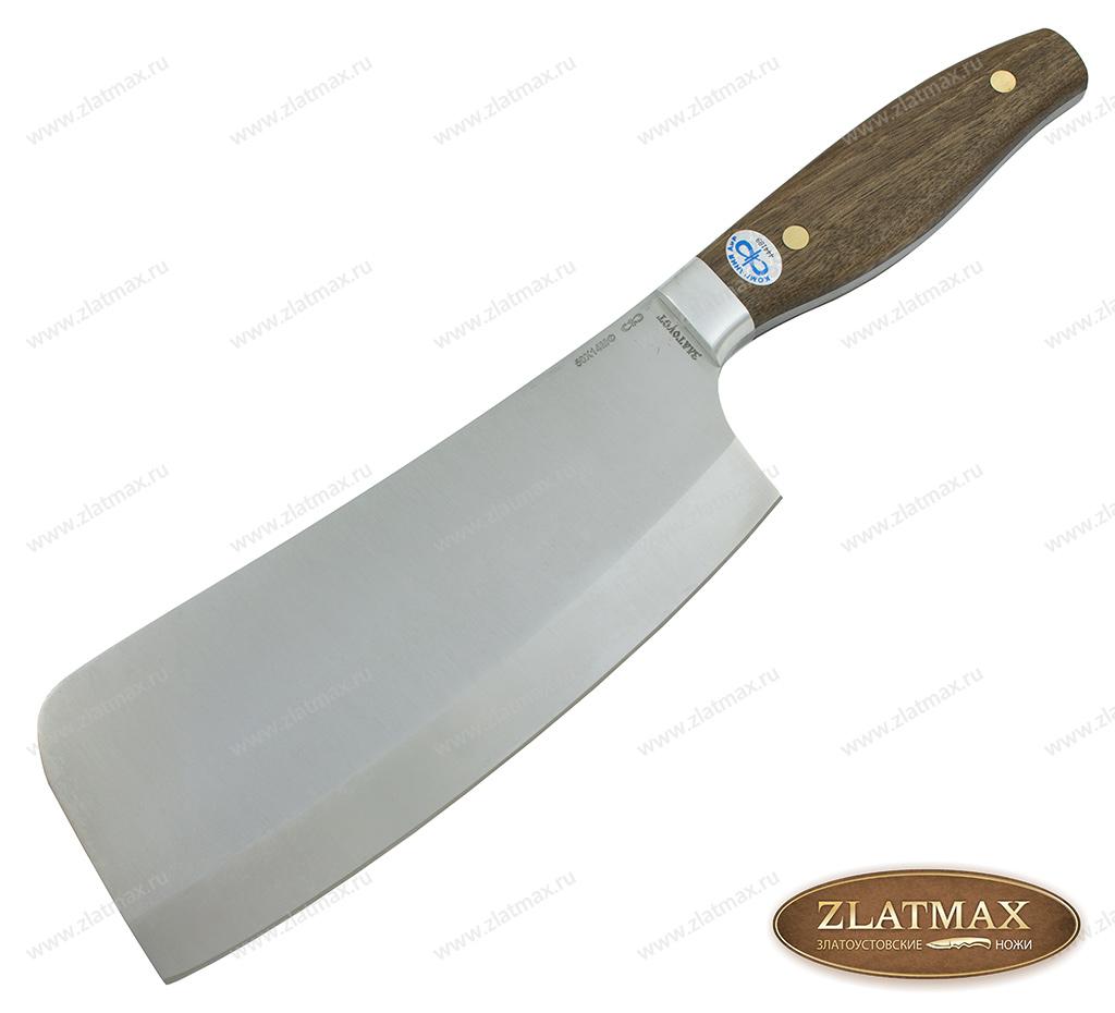 Нож Секач ЦМ (50Х14МФ, Накладки орех, Алюминий) фото-01