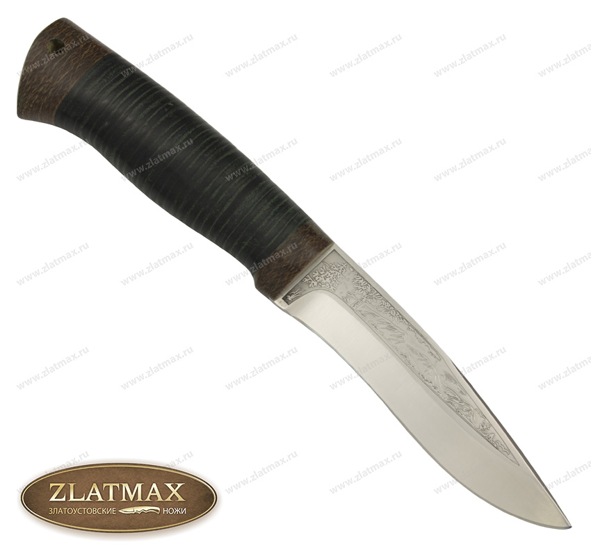 Нож Шаман-2 (100Х13М, Наборная кожа, Текстолит) фото 01