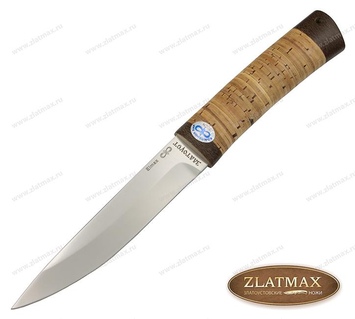Нож Пескарь (ELMAX, Наборная береста, Текстолит) фото 01
