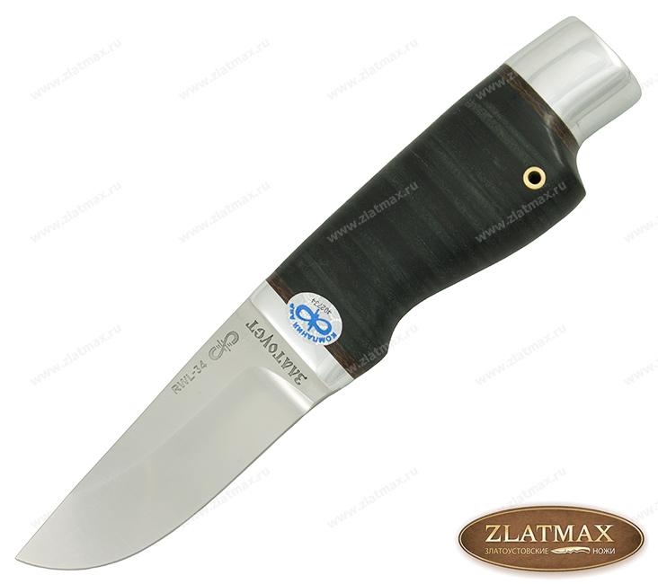 Нож Нерпа (RWL-34, Наборная кожа, Алюминий) фото-01