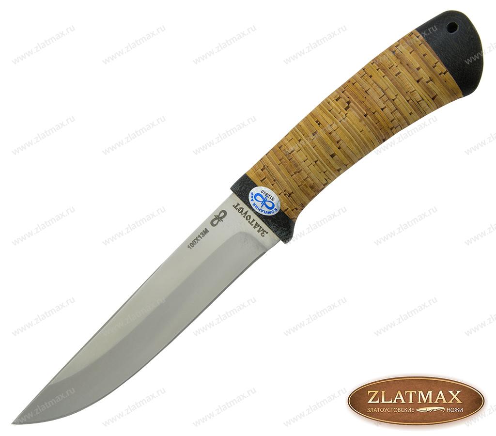 Нож Лиса (100Х13М, Наборная береста, Текстолит) фото 01