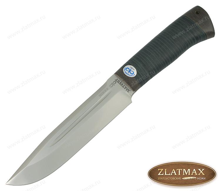 Нож Селигер (100Х13М, Наборная кожа, Текстолит) фото 01