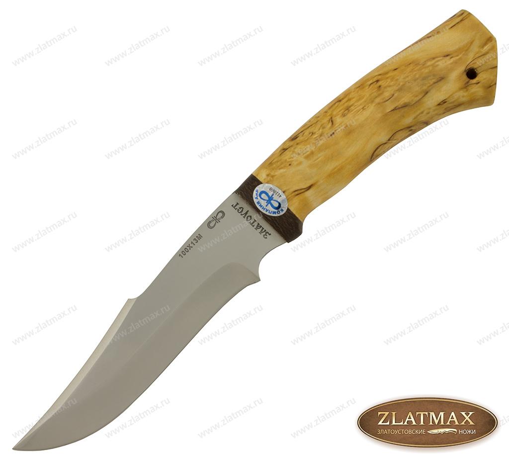 Нож Хазар (100Х13М, Карельская берёза, Текстолит) фото 01