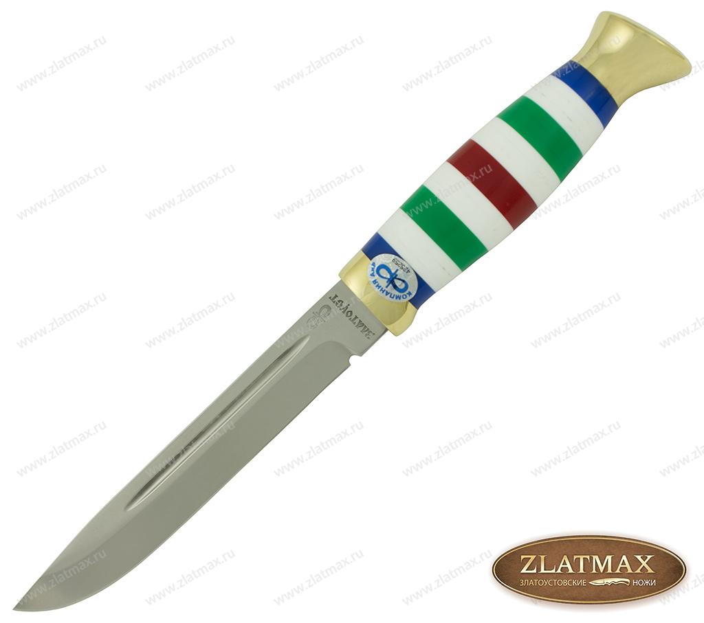 Нож Финка-3 (110Х18М-ШД, Оргстекло, Латунь) фото 01
