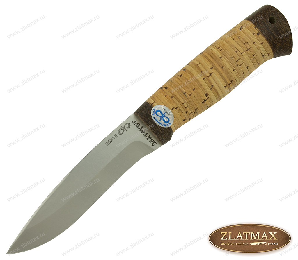 Нож Шаман-2 (95Х18, Наборная береста, Текстолит) фото-01