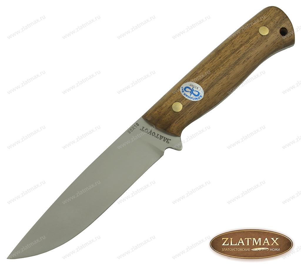 Нож Стриж (95Х18, Накладки орех) фото-01