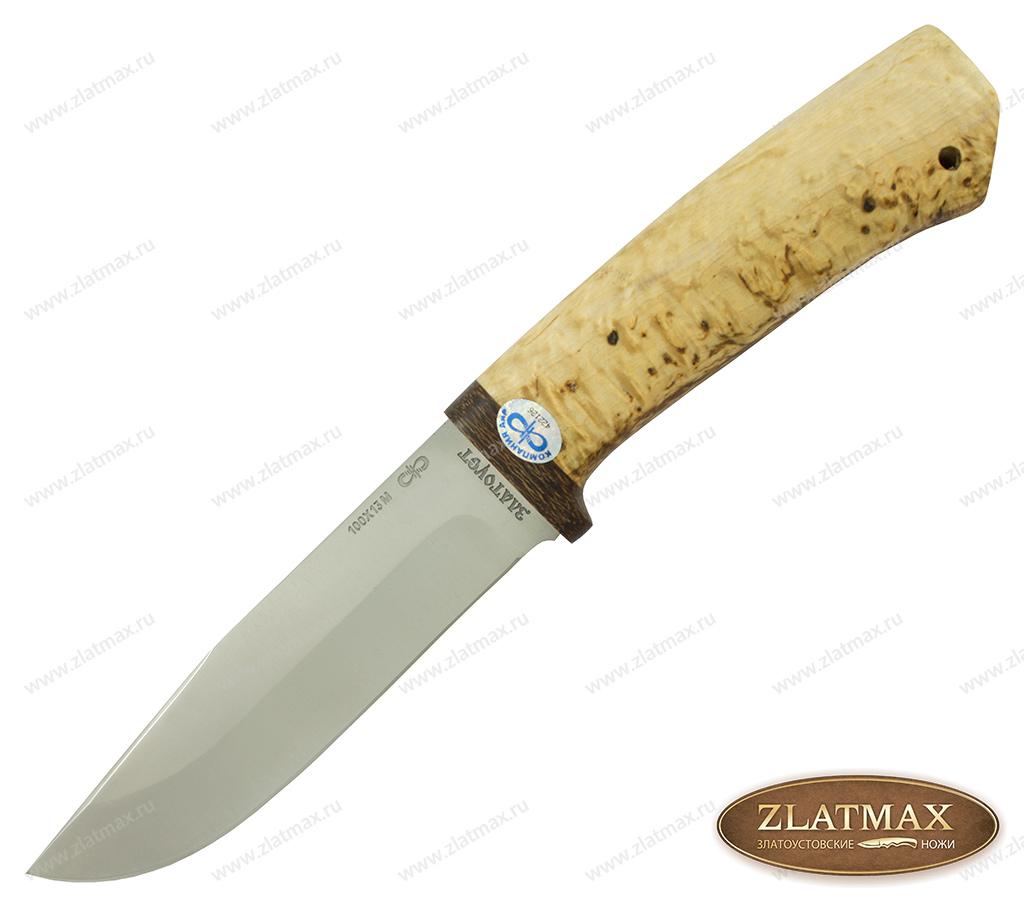 Нож Турист (100Х13М, Карельская берёза, Текстолит) фото 01
