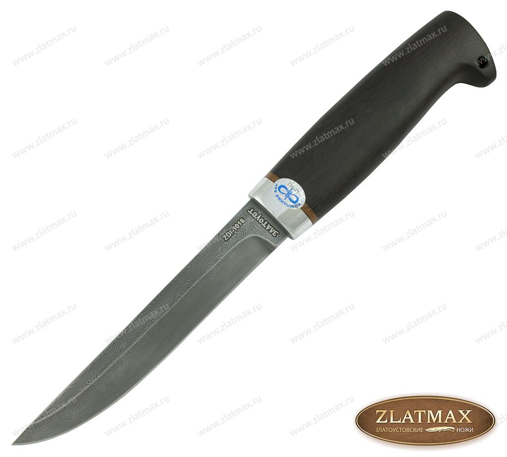 Нож Финка-5 (Дамаск ZDI-1016, Граб, Алюминий) фото 01