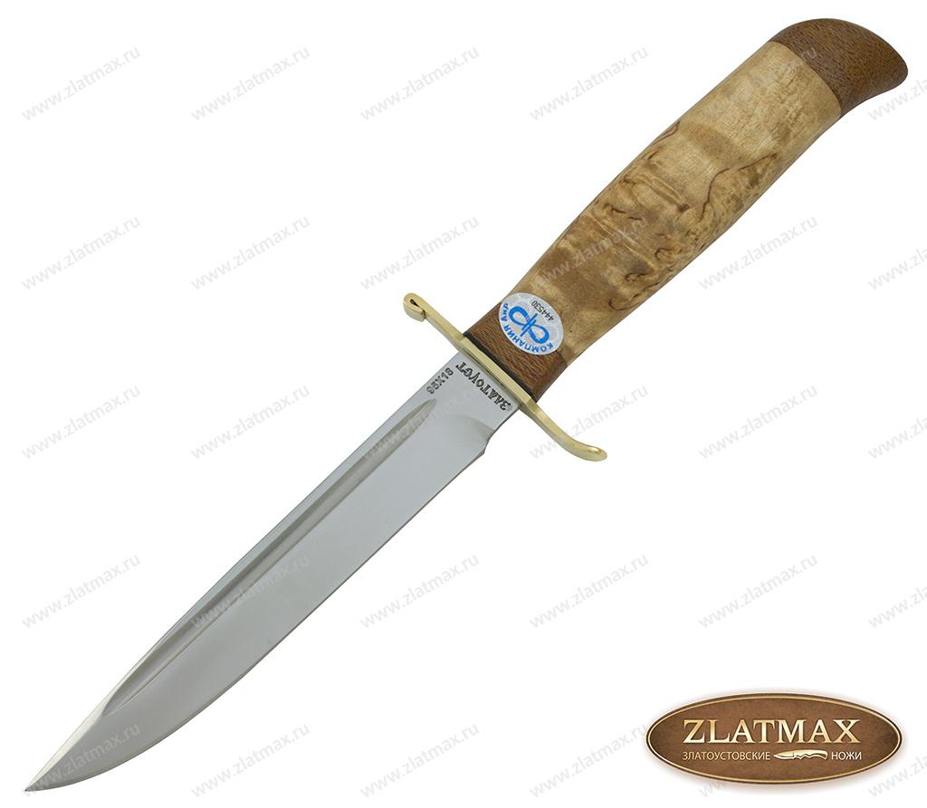 Нож Финка-2 Вача (95Х18, Карельская берёза, Латунь, Текстолит) фото 01