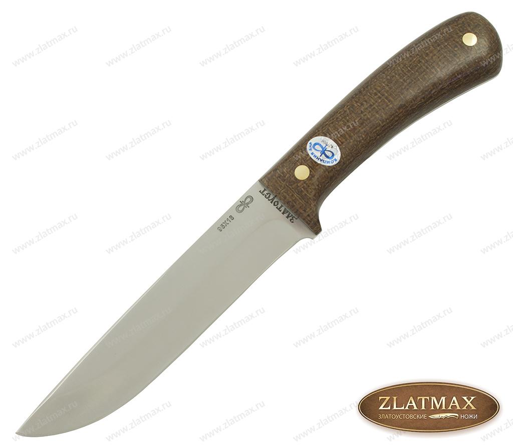 Нож Лиса ЦМ (95Х18, Накладки текстолит) фото-01