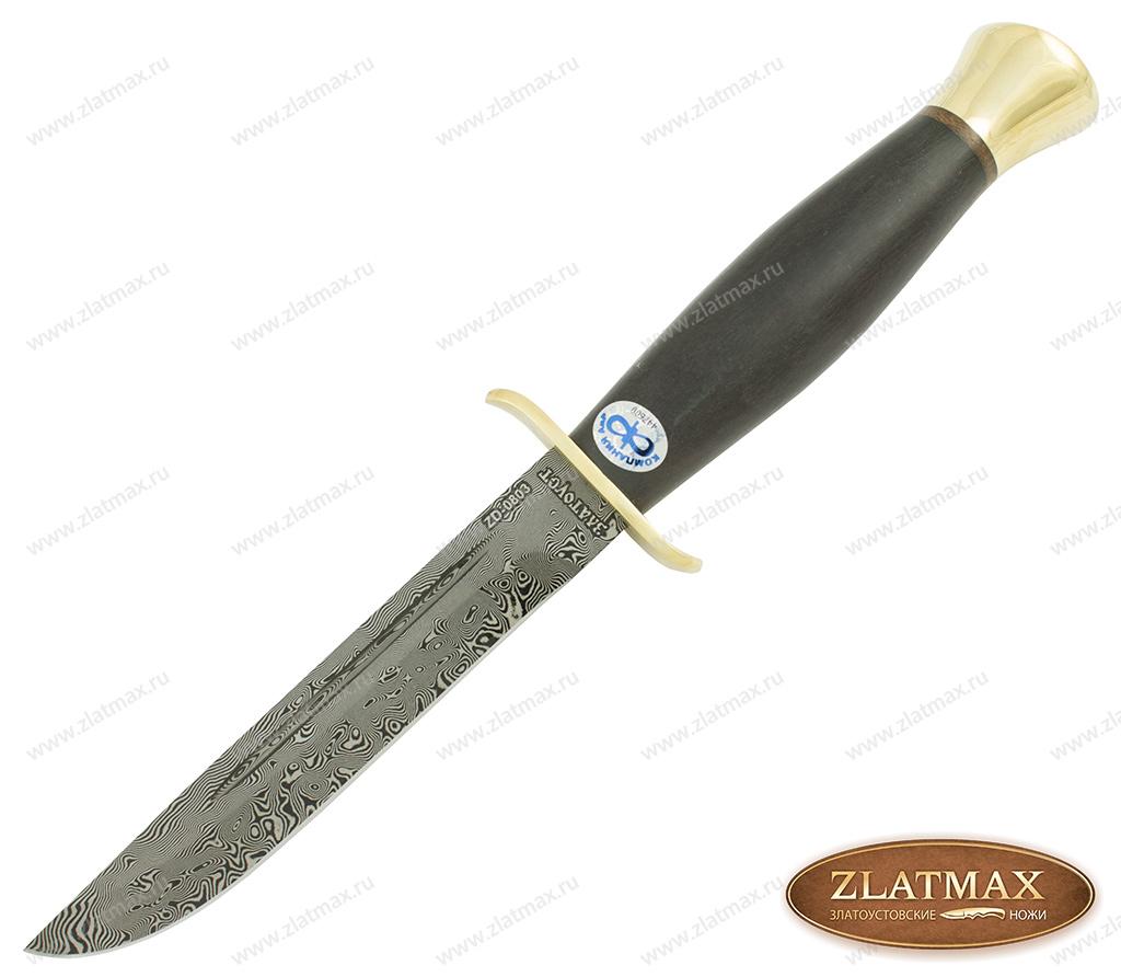 Нож Финка-2 (Дамаск ZD-0803, Граб, Латунь) фото-01
