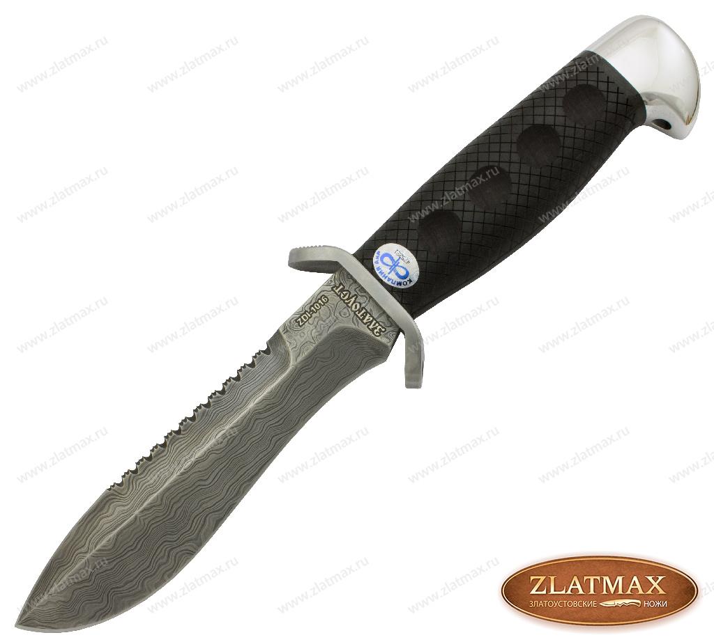 Нож Боец (Дамаск ZDI-1016, Граб, Нержавеющая сталь) фото-01