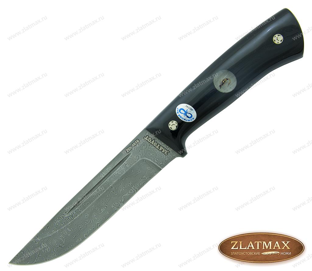 Нож Бекас ЦМ (Дамаск ZDI-1016, Накладки Mercorne) фото-01