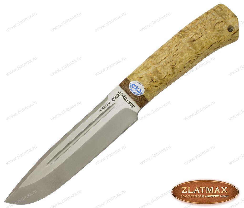 Нож Селигер (100Х13М, Карельская берёза, Текстолит) фото 01