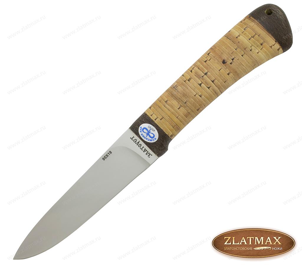 Нож Эш (95Х18, Наборная береста, Текстолит) фото 01