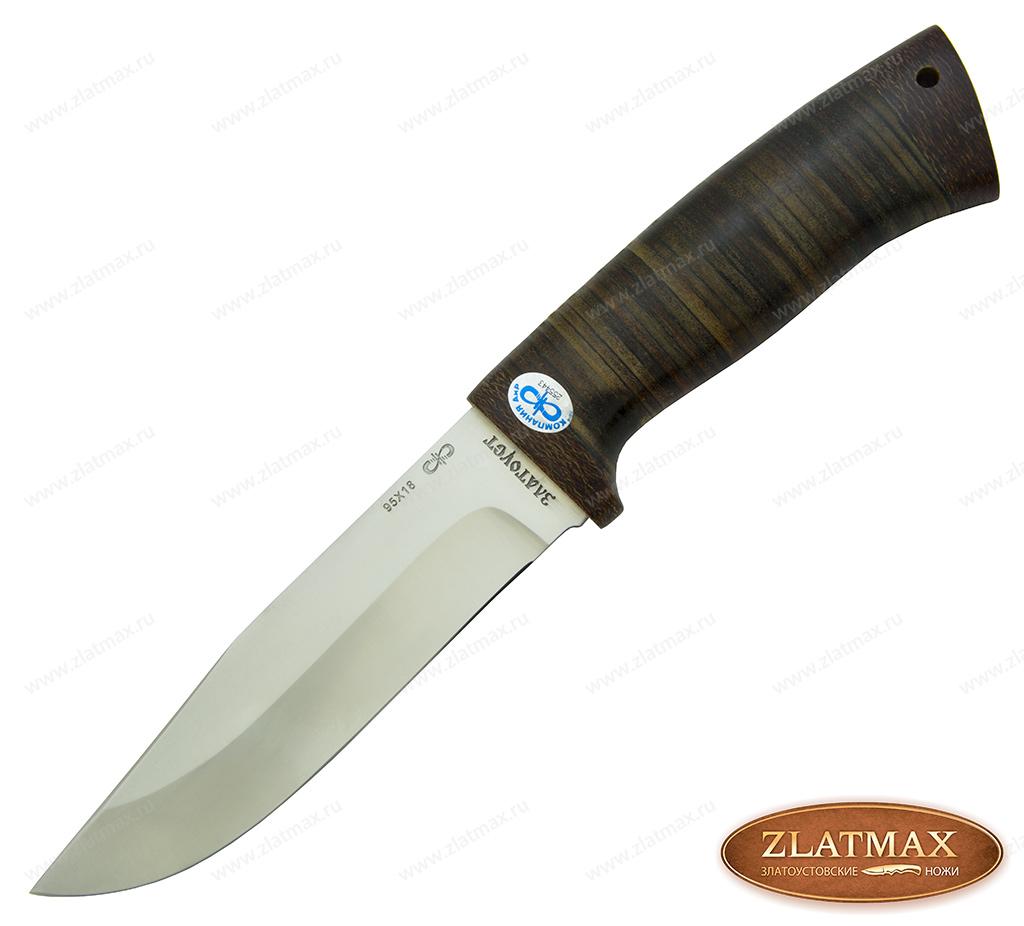 Нож Турист (95Х18, Наборная кожа, Текстолит) фото 01