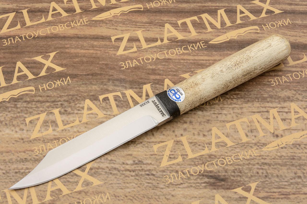 Нож Засапожный-1 (95Х18, Карельская берёза, Текстолит) фото 01