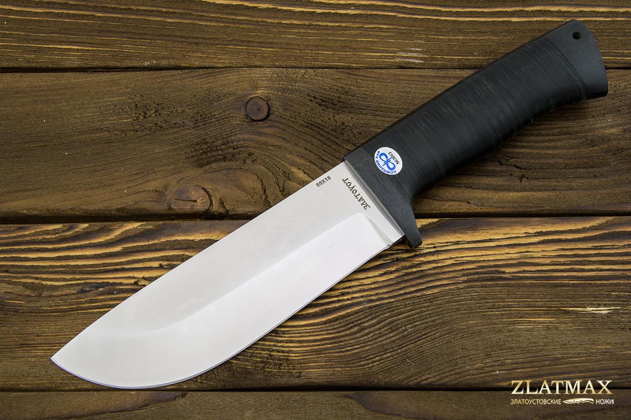 Нож Толстяк (95Х18, Наборная кожа, Текстолит) фото 01