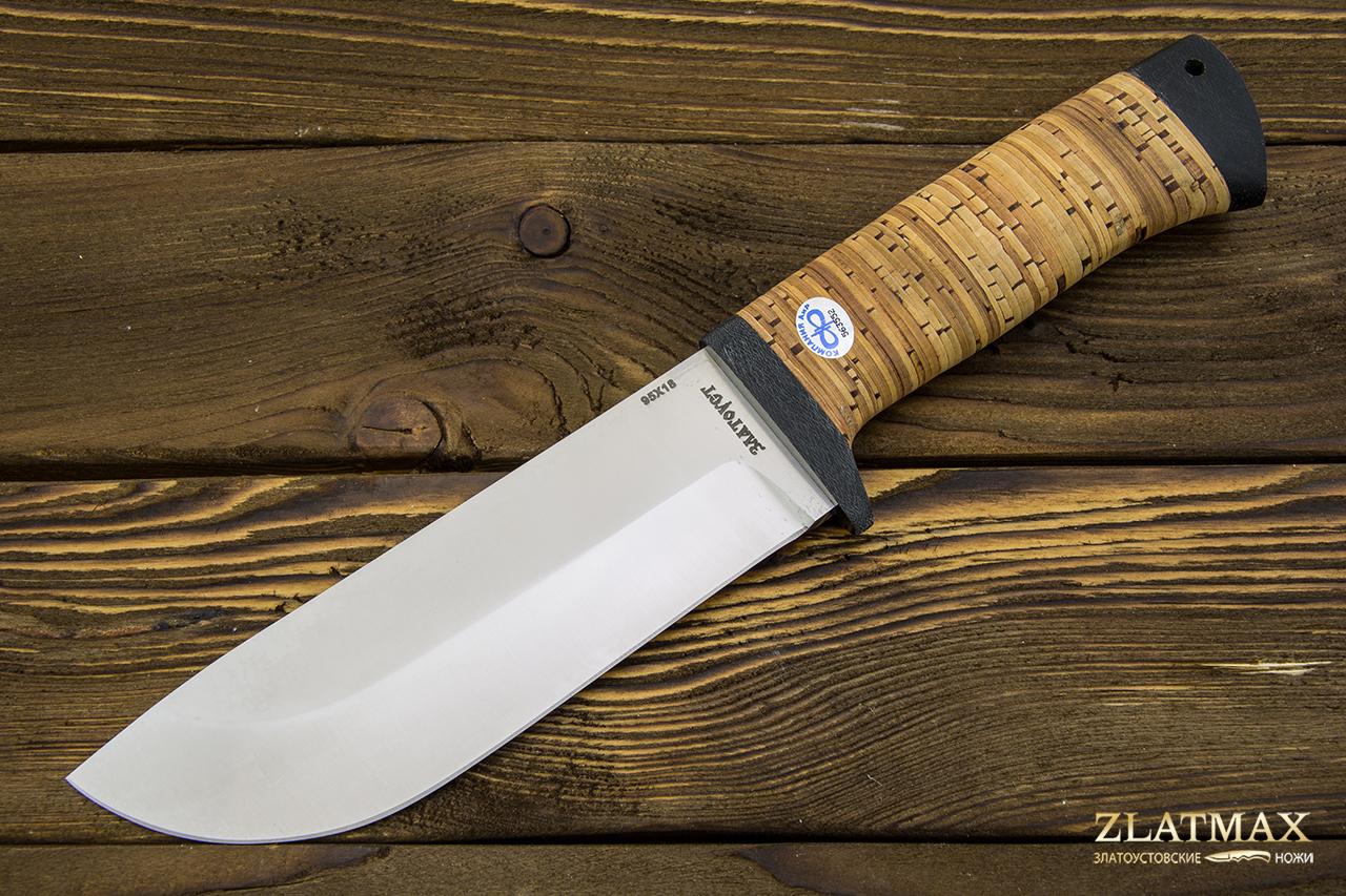 Нож Толстяк (95Х18, Наборная береста, Текстолит) фото 01