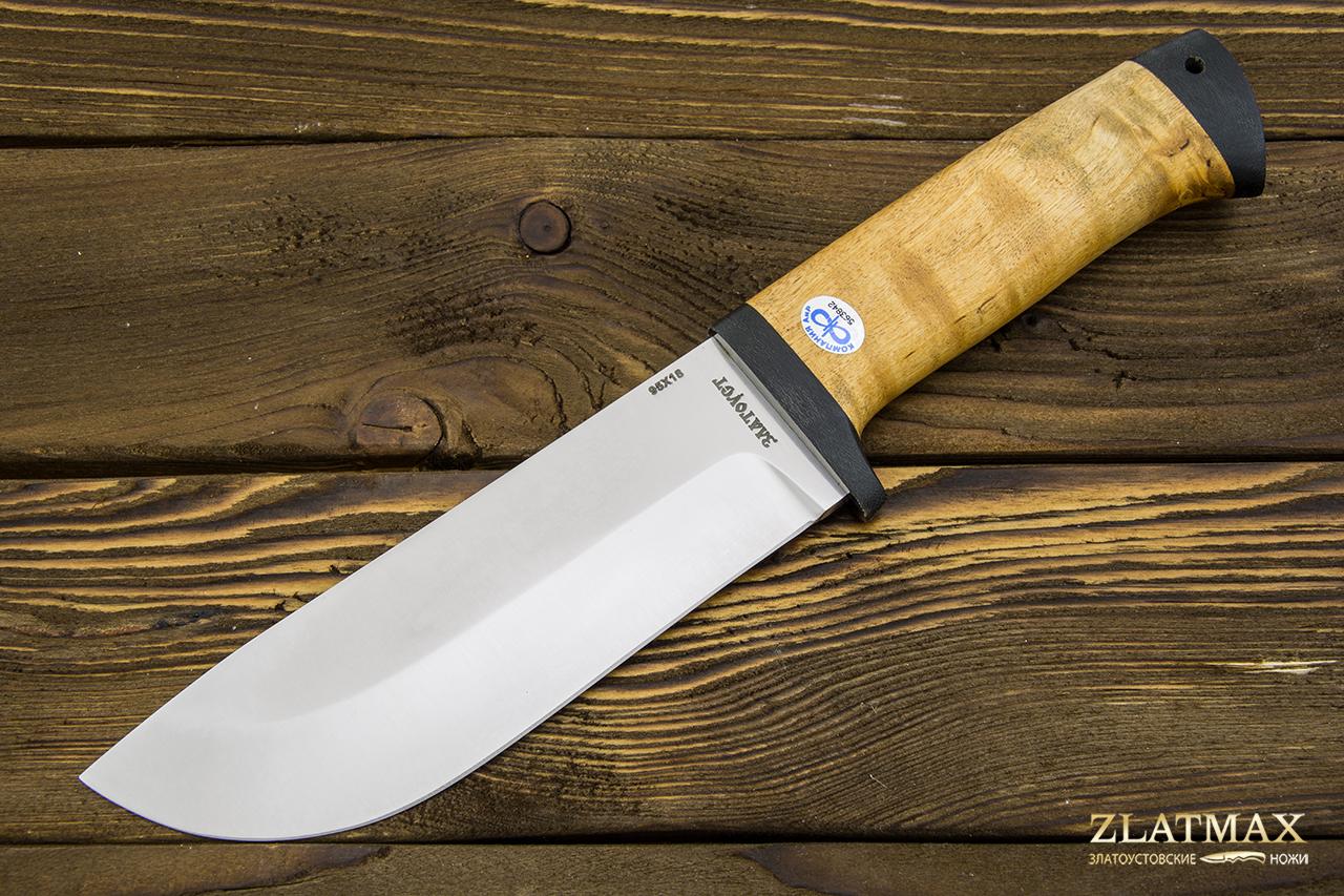Нож Толстяк (95Х18, Карельская берёза, Текстолит) фото 01